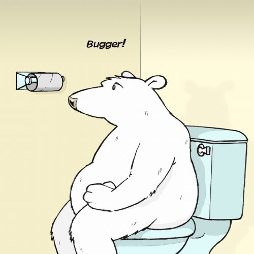 TW406 – Toilet Paper Bugger Funny Blank Card